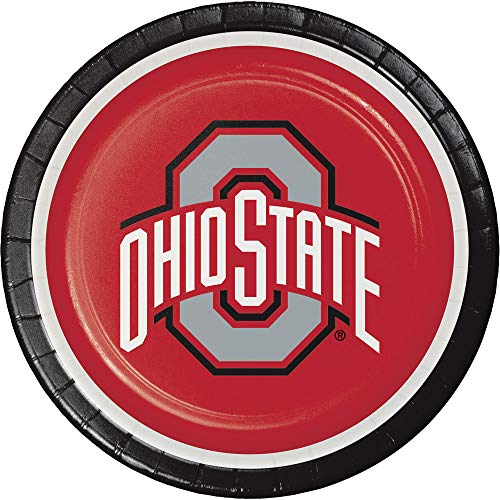 - Club Pack of 96 Red and Black Ohio State University Disposable Dinner Plates 8.75
