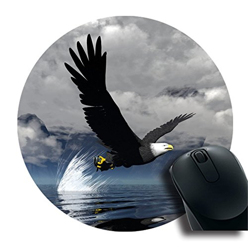 TOM Design ECO Round Mousepad with Eagle bird Customized Art Desktop Laptop Gaming mouse Pad Round Rubber MousePad (7.87