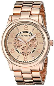 Vernier Women's VNR205 Rose-Tone Bracelet Watch