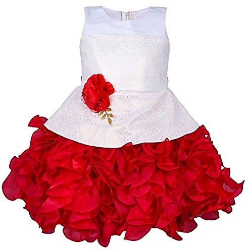 da1b8d4d7d88 My Lil Princess Baby Girls Birthday Frock Dress_Golden Red Scuba_1-6 Years:  Amazon.in: Clothing & Accessories