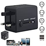 us british adapter - World Travel Adapter, Universal Worldwide Travel Adapter with 2 USB, AC Power Plug Adapter for US/AU/UK/EU Laptop, Cell Phones & Other
