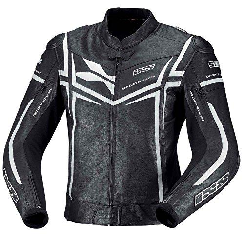 IXS Sting Moto Chaqueta de piel blanco y negro
