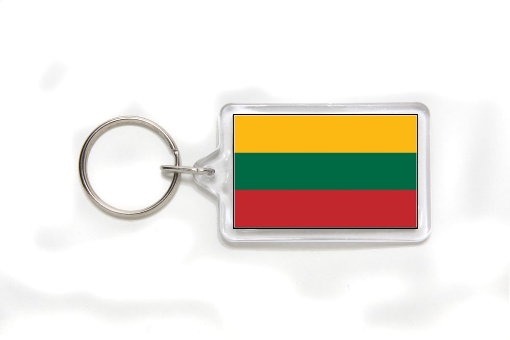 Lithuania Lithuanian Flag Double Sided Acrylic Key Ring Small