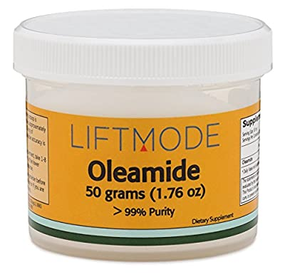 Oleamide Powder - 50 Grams (250 Servings at 200 mg) | #1 Value for Money #Top Supplement | Calming Effect, Sleep Aid, Reduces Anxiety, Promotes Appetite | 100% Natural Vegetarian