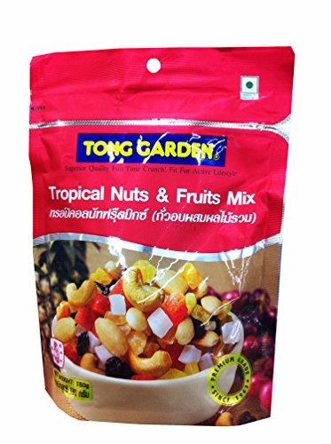 Tropical Nuts & Fruits Mix, premium grade snack. by Tong garden. (180 g/ (Sugar Added Fruitcake)