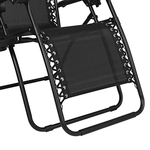 Best Choice Products Zero Gravity Chairs Case Of (2) Black Lounge Patio...