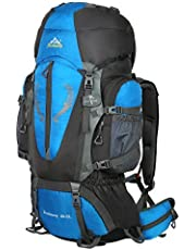 Hwjianfeng Wanderrucksack Trekkingrucksack für Damen & Herren 80L+5L wasserdicht mit Inengestell Hüftgurt-Tasche