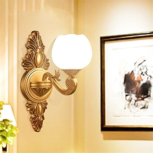 LED Wall Lights Wall Sconce Light Fixture Up Down Decorative Wall Lighting The Atmospheric Living Room Wall Lights Antique Brass Lamps Faux Marble Villa zinc Alloy Wall Light Engineering