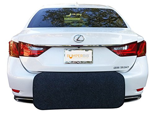 Rear Bumper Protector (Black) | Bumper Guard, and Trunk Cargo Liner Floor Mat | Prevent Scratches While Unloading and Loading | Easily Folds Away