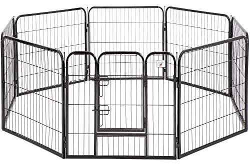 BestPet Pet Playpen Dog Kennel 8 Panel Indoor Outdoor Folding Metal Protable Puppy Exercise Pen Dog Fence,24″,32″,40″