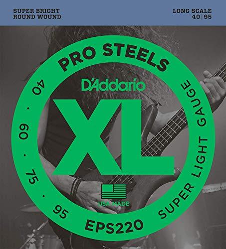 CUERDAS BAJO ELECTRICO - DAddario (EPS220) Pro Steels Extra Super Lite J. Completo (040/060/075/095