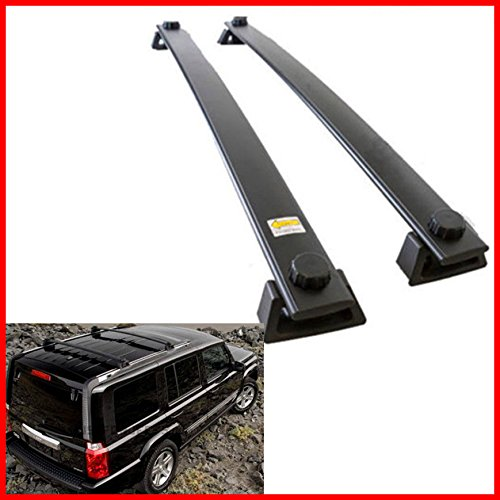 Jeep Commander Roof - Nova For 06 07 08 09 10 Jeep Commander Roof Rack Cross Bars Bolt-On Factory Style