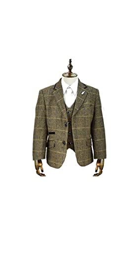 Cavani Boys Albert Tweed 3 Piece Page Boy Wedding Suit, 1-15 Years (