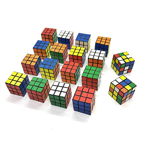 Dadam School Supplies Mini Puzzles Birthday Party Favors For Kids Boys 18 Pack 3x3 Speed Magic Cube Puzzle Toy Game Eco Friendly Material With Vivid Colors (Best Rubix Cube Game)