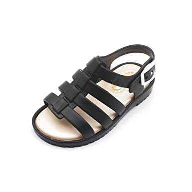 Children Jelly Shoes Roman Girls Boys Sandals Hollow Baby Shoes Non-Slip  Sandals Shoes Black 51b4daa4f71a