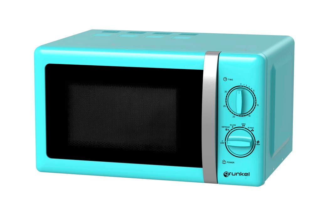 Grunkel - Microondas de diseño vintage azul de 20 litros de ...