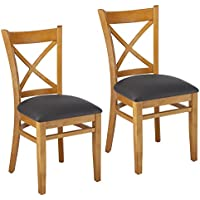 Beechwood Mountain BSD-106S-C Solid Beech Wood Side Chairs in Cherry for Kitchen and dining, set of 2