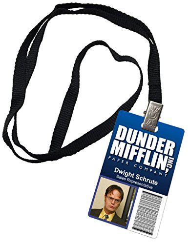 Dwight Schrute Dunder Mifflin Inc. Novelty ID Badge The Office Prop Costume]()
