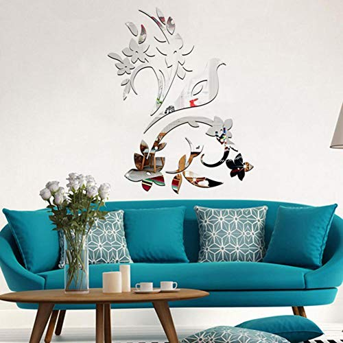 - Removable Mirror Decal Art Mural Wall Stickers Home Decor DIY Room-Decors,3D