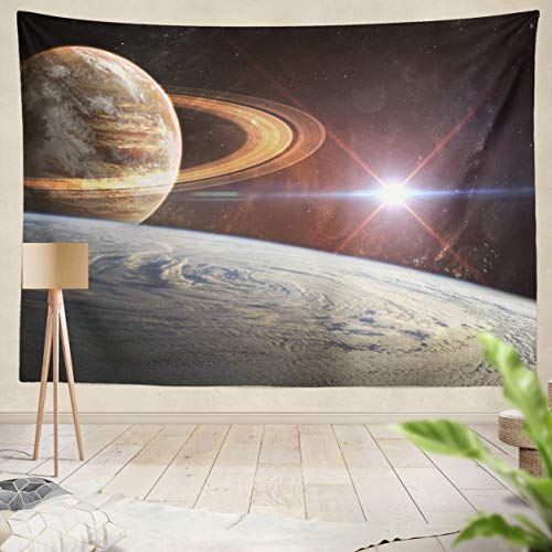ASOCO Tapestry Wall Handing Beautiful Space Background Elements of This Image Furnished by NASA Wall Tapestry for Bedroom Living Room Tablecloth Dorm 60X80 Inches