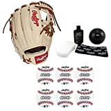 Rawlings 11.75'' Pro Preferred Baseball Glove, Right Hand Throw, Complete Bundle