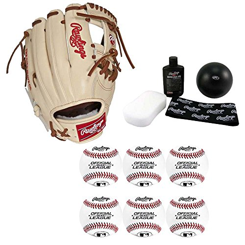 Rawlings 11.75'' Pro Preferred Baseball Glove, Right Hand Throw, Complete Bundle by Rawlings