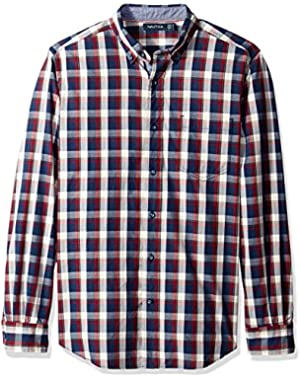 Men's Classic Fit Marine Plaid Shirt