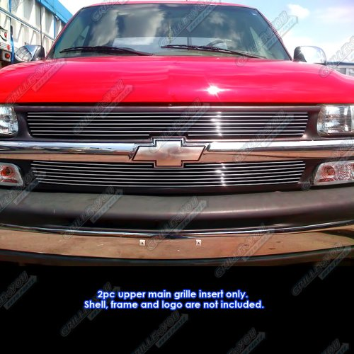 APS Polished Chrome Billet Grille Grill Insert (Chrome Grill Grille Overlay)