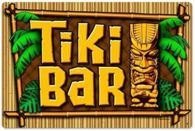 Hawaiian Tiki Bar  Metal Sign