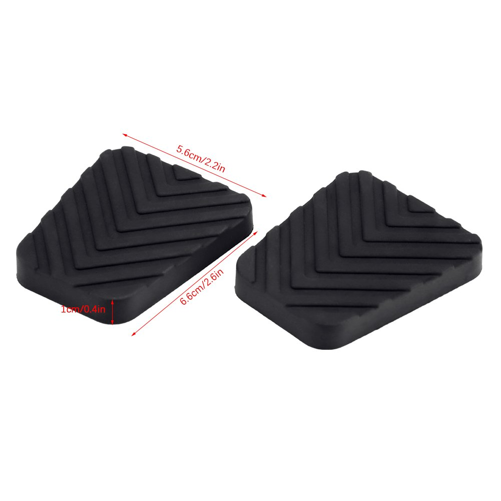 KIMISS 2 * Rubber pad for brake clutch pedal of coche, Cubierta del pedal del Auto: Amazon.es: Coche y moto