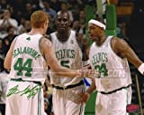 Brian Scalabrine Boston Celtics Signed with Kevin Garnett and Paul Pierce 8x10