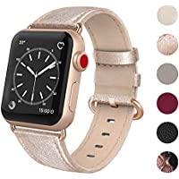 SWEES for Apple Watch Band 38mm Leather, iWatch Soft...