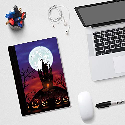 Halloween Decorations Multi-colored Classic Notebook,Ruled Hardcover Writing Notebook,8.3 x 5.8 inches,Halloween Decorations Multi-colored Classic Notebook,Ruled Hardcover Writing Notebook,Gothic Ha ()