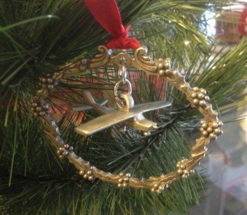 Cessna 150 Pewter Christmas Tree -