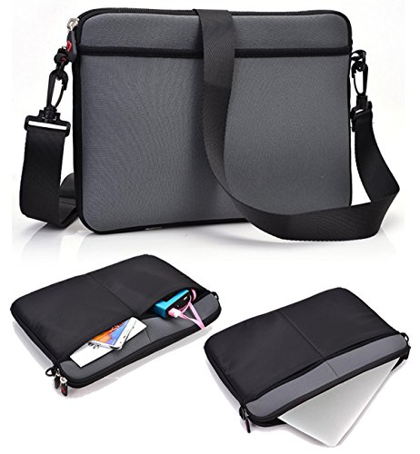 NuVur ™ Slim Carrying Case/Bag|Grey,Shoulder Strap|for Apple MacBook Pro (MGX82LL/A) 13.3-Inch Laptop with Retina Display