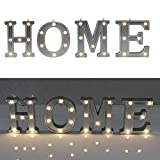 Decorative Illuminated Marquee Word Sign (Silver Color 4.21