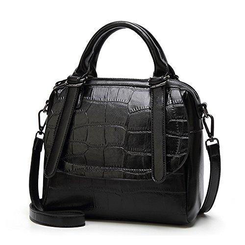 À Meaeo Mode Main Black Main Nouveau Bandoulière Noir Sac À Sac À Rétro Sac vfxqvTrwa