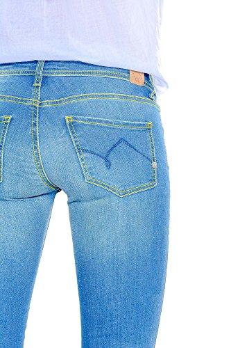 para mujer Jeans azul 31 Azul Gaudi Vaqueros Ajustada qwaO6t