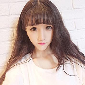 313f679fe39 Net red fashion hot corn sweet girls fake hair bangs wig fluffy little air  bellows instant noodles hot caps: Amazon.ca: Beauty