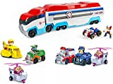 Paw Patrol Paw Patroller with Paw Patrol Racers 6-Pack Vehicle Set, Bundle