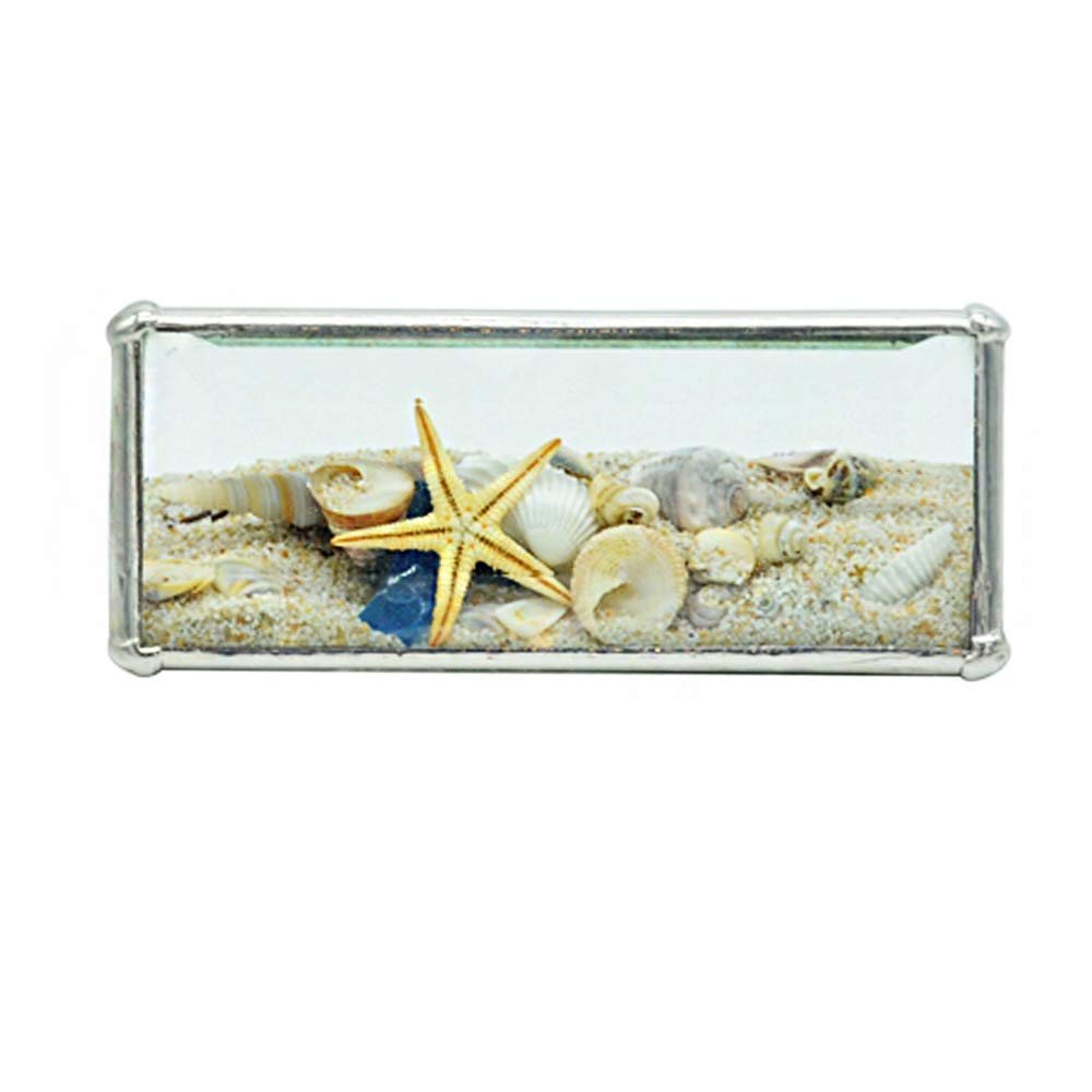 Christina Home Designs Beach Gifts - Mini 2'' x 5'' Beach Kaleidoscope Tent - Small Collectable Ocean Sand Theme, Coastal Decor for Accent, Bathroom - Compact Vacation Gift Ideas for Women Accessories