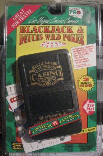 Las Vegas Corner - Blackjack & Deuces Wild Poker Electronic Handheld Game