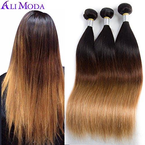 Ali Moda 10A Silky Straight Three Tone T1B/4/27 3 Bundles 10