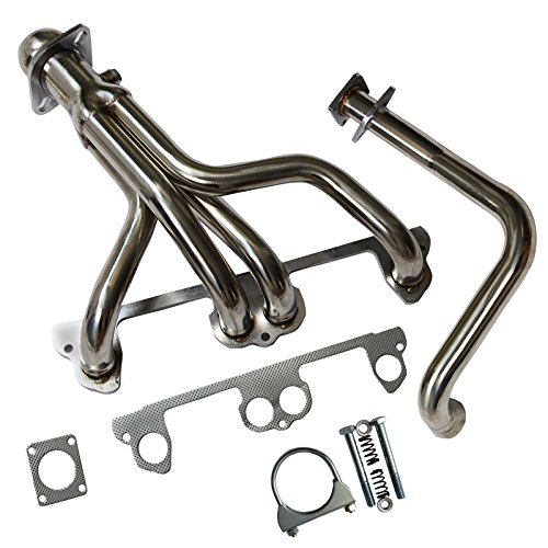 Stainless Steel Exhaust Manifold Header System Kit Fit For Jeep Wrangler YJ 91-95 2.5L L4 (Jeep Header Kit)