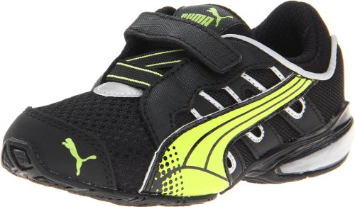 PUMA Voltaic 3 V Kids Running Shoe (Toddler/Little Kid/Big Kid),Black/Lime Punch,5 M US Toddler (Puma Running Shoes 2014)