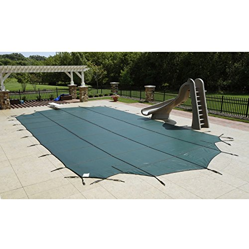 Splash Net Express Arctic Armor Mesh Rectangular Safety Cover for 18ft x 36ft In-Ground Pools with 12-Year Warranty Color: Green (WS360G) Arctic Armor Green Mesh