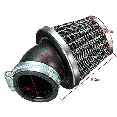 Alamor 40Mm 45 Grad Luft Filter Schwarz F/ür 125Cc 110Cc 125Cc 140Cc Pit Dirt Bike Motorrad