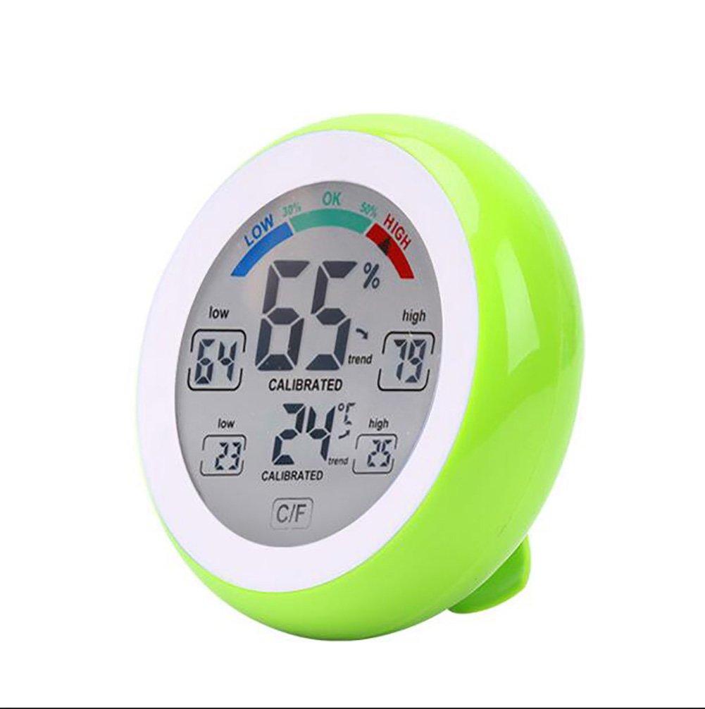 SXWY ° C / ° F Pantalla Táctil Termómetro Digital Higrómetro Temperatura Y Humedad Metro Pantalla De Tendencia Máxima Y Mínima (Actualización),Black: ...
