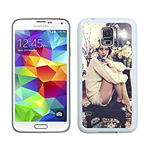 New Unique DIY Antiskid Skin Case For Samsung S5 Lana Del Rey Samsung Galaxy S5 White Phone Case 245