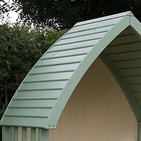 Pérgola de lujo pintada de madera para jardín con asiento (acabados de color verde salvia y crema): Amazon.es: Jardín
